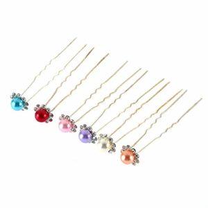 Erduo 1 pcs Simulé-Perle Cristal Fleurs Pince À Cheveux Épingle À Cheveux Bijoux Acessories
