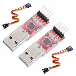Yizhet CP2102 Adaptateur Convertisseur USB vers TTL Module 5pin Convertisseur Sériel pour 3.3V et 5.5V(2 pièces)