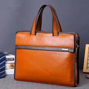 Mallette d'affaires Sacoche pour ordinateur portable14 pouces bureau porte-documents en cuir PU sac de travail cartable noir Sac pour l'école / voyage / femme / homme-BlackBag for Schoo