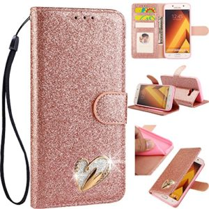 WANYINGLIN Magnétique Stand Bling Glitter Sparkle Diamant pour Samsung A6 2018