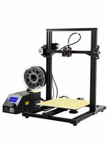 ZHQEUR Grand Taille 300X300X400mm d'impression en Aluminium de l'imprimante Prusa de CR-10 3D avec Le lit chauffé Accessible en métal