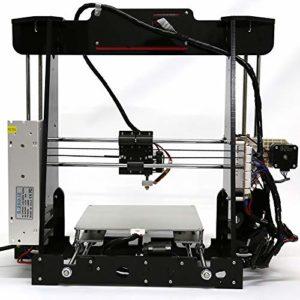 Z.L.FFLZ Imprimante 3D Écran d'affichage à Cristaux liquides de Bec d'extrudeuse de reprap I3 MK8 de Bureau 3D des Kits d'impression 3D de Bureau de la Haute précision A8 avec la Carte SD de 8GB