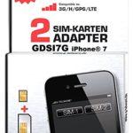gdsi7g/Carbon Noir/2ans de garantie fabricant/multilangues/Dual SIM double SIM Adaptateur iPhone 7UMTS/3G/HSDPA/GPS/LTE