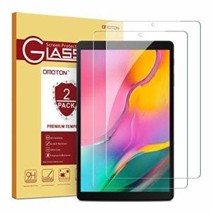 OMOTON [2 Pièces Verre Trempé pour Samsung Galaxy Tab A 10.1 T515/T510 2019 Film Protection Ecran sans Bulles, Facile Installation