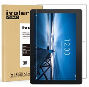 VGUARD Verre Trempé pour Lenovo Tab E10 10.1 Pouces, Film Protection en Verre trempé écran Protecteur Vitre – Anti Rayures – Ultra Résistant Dureté 9H