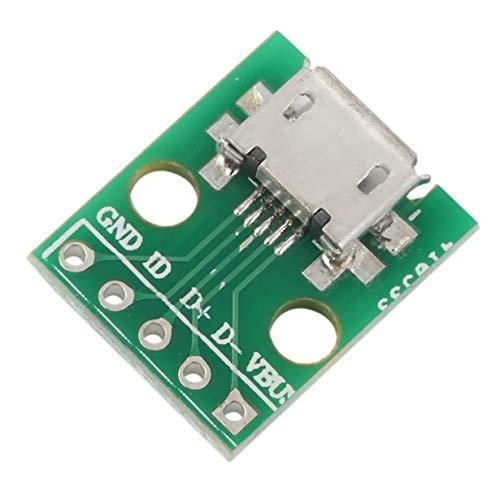 1 PCS Adaptateur Micro USB vers Dip Connecteur 5 Broches Femelle Convertisseur de Carte de Type B Matériaux écologiques (Vert) by camellia