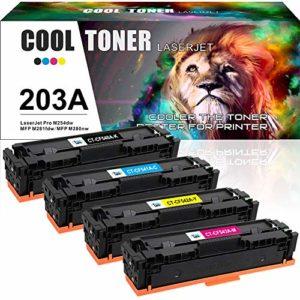 Cool Toner 4 Cartouches Comapatible pour HP 203A 203X CF540A CF540X CF541A CF542A CF543A pour HP Color Laserjet Pro MFP M281fdw M281fdn M280nw M281cdw HP Color Laserjet Pro M254dw M254dn M254nw M281