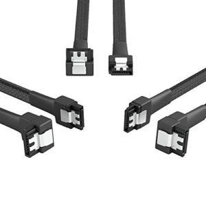 KabelDirekt 3X 30cm Câble de Données SATA 3 6 Gbit/s 7 Broches coudé 90°