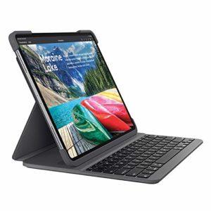 Logitech 920-009148 SLIM FOLIO PRO, Étui pour Clavier Bluetooth Rétroéclairé, pour iPad Pro 12,9 pouces Clavier Francais (3e Génération)