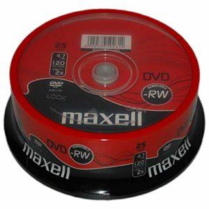 Maxell Lot de 100 DVD-RW Vierges 2 x 120 Min 4,7 Go