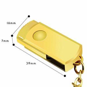 RONSHIN Mini clé USB Portable Porte-clés en métal
