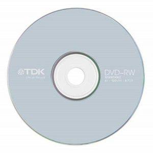 TDK Lot de 250 disques DVD-RW Anti-Rayures réinscriptibles 16 x 4,7 Go 120 Min