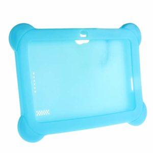 Housse de Protection Anti-poussière en Silicone Souple Ultra-léger de Couleur Solide Housse de Protection pour tablettes Android 7 Pouces Q88 Bleu
