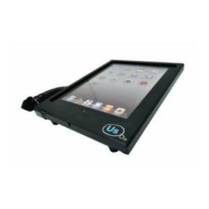 Hypertec K501TE1PHY Support de sécurité plat avec accès au bouton Home pour iPad Noir