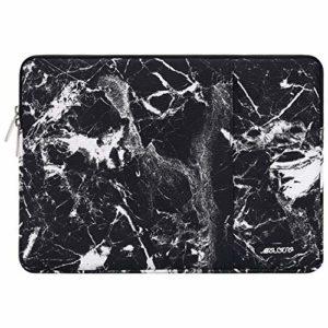 MOSISO Housse Compatible avec 13-13,3 Pouces MacBook Pro, MacBook Air, Notebook, Laptop Sleeve Polyester Verticale Hydrofuge Sac avec Poche Accessoires, Marbre Noir