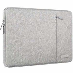 MOSISO Housse Compatible avec 9.7-11 Pouces iPad Pro, iPad Air 3 10.5 2019, Surface Go 2018, iPad 1/2/3/4, Laptop Sleeve Polyester Verticale Hydrofuge Sac avec Poche Accessoires, Gris