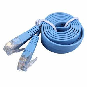 Patch Plat Ethernet RJ45 CAT6 8P8C, Maison Durable Parvicostellae de câble LAN portatif de câble LAN de réseau 1m(Color:Blue)
