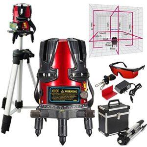 PhilMat 8 ligne kit niveaux laser nivellement de faisceau laser rotatif ligne de gradienter mÚtres de trépied