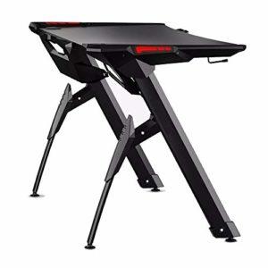 PN-Braes Table d'ordinateur Pliante Computer Gaming Bureau avec RVB Lumière, Bureau Ergonomique Portable Bureau Table Informatique Convient Aux Familles (Couleur : Noir, Taille : Taille Unique)