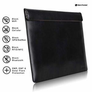 Silent Pocket Étui Faraday pour ordinateur portable avec blocage des signaux – Plusieurs couleurs (33 et 38 cm)