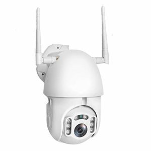 St.mary Caméra extérieure IP sans Fil 1080P, IP66 caméra étanche dôme PTZ, Vision Nocturne, détection de Mouvement, l'enregistrement Automatique, Support Micro SD de 128 Go