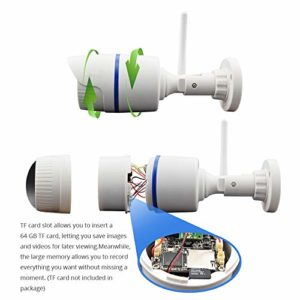 St.mary Intérieur caméra étanche avec Vision Nocturne Infrarouge Haute définition/détection de Mouvement/intercom bidirectionnel Vocal, adapté pour intérieur/extérieur,720p,Lens2.8mm