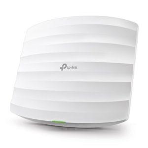 TP-Link EAP245 Point d'accès Wi-Fi double bande AC1750 Gigabit – Plafonnier (450Mbps en 2.4GHz + 1300Mbps en 5GHz, 1 port Gigabit, Support PoE) , Noir