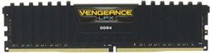 8 Go (2×4 Go) Corsair DDR4 Vengeance LPX Noir, PC4-24000 (3000), sans Tampon ECC, Cas 16-18-18-36, XMP 2.0, 1.35V