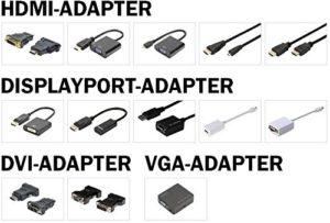 Adaptateur TV, écran Digitus DA-70463 Video-Adapter Set DA-70463 [1x DVI mâle 18+1 pôles, DVI mâle 24+5 pôles, DisplayPo