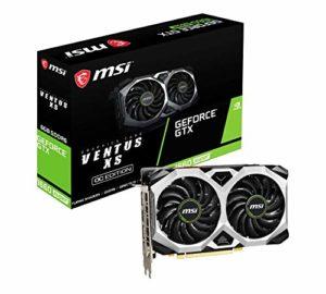 MSI NVIDIA GeForce GTX 1660 Super Ventus XS OC Carte Graphique 6 Go GDDR6, 1815 MHz, 3 x DisplayPort, HDMI, système de Refroidissement Dual Fan