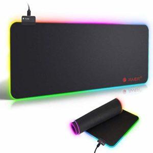 RAVER RGB Tapis de Souris Gaming,LED Lumineuse Tapis de Souris,Surface antiderapant pour Les Joueurs de l'Ordinateur PC et du Mac (XXL)