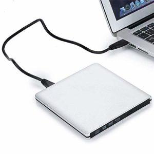 YL Treasure Lecteurs optiques Ultra-Mince en Alliage d'aluminium de DVD Externe Lecteur CD Burner USB 3.0 Writer de Transfert du Lecteur Lecteur for Ordinateur Portable