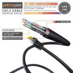 10m Ethernet Câble Cat 7 – Gigabit LAN Réseau 10Gbps – 2X fiches RJ45 – S FTP Blindage – PC Switch Router Modem TV Box Boîtiers ADSL Consoles de Jeux Vidéo – Noir