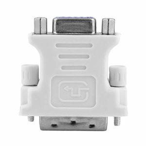 FinukGo DVI DVI-I mâle 24 + 5 Broches vers VGA Femelle vidéo convertisseur Adaptateur LCD Plug for DVD HDTV mâle vers Adaptateur Femelle Blanc-Blanc