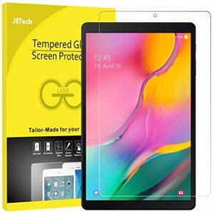 JETech Protection Écran Compatible Galaxy Tab A 10.1 2019 (SM-T510/T515), Film de Protection en Verre Trempé