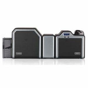 Nouveau Fargo HDP5000 Duplex Double Face Retransfert Imprimante de Carte D'Identité Double Machine à Laminer avec Lot Initial USB Ethernet Infocus D'Identité