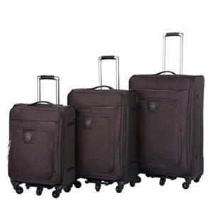 Oxford Fabric Bag 3 pièces imbriquées Ensembles 20po 24po 28po Softside Montants Extensibles Bagage à main Valise Softshell Léger 360 ° Roues Multidirectionnelles Spinner Silent Pour Voyage Avion Voya