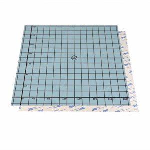 SOOWAY 310x310mm Flex magnétique deux couches d'impression Ruban adhésif surface chaude pour la construction d'une imprimante 3D Plateforme chauffante compatible avec Creality CR-10S Anet E12 CR-10
