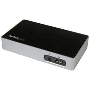 StarTech.com Station d'accueil – USB 3.0 – Réplicateur de port – HDMI / USB 3.0 / GbE – Pour PC portable – Universel (USB3VDOCKH)
