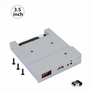 Tosuny Émulateur de Disquette USB 3,5 Pouces, Émulateur de Lecteur de Disquette SSD USB SFR1M44-U100 pour Lecteur de Disquette de 1,44 Mo, Protection des données Haute sécurité