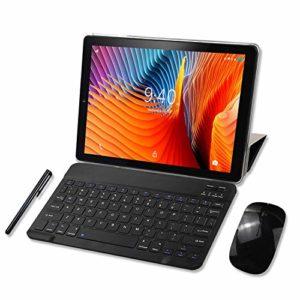 YOTOPT Tablette Tactile 10 Pouces 4G LTE, Android 9.0 Certifié par Google GMS Tablette 64Go, 4Go de RAM, Bluetooth, GPS, WiFi, Type-c (Noir)