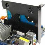 BeMatik – Adaptateur de Disque Dur 1 x HDD SSD 2.5″ à Slot PCI de châssis d'ordinateur