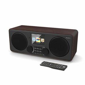 Majority Pembroke II Digital Dab/Dab + / FM et Radio Internet – Bluetooth – Spotify – USB et entrée auxiliaire (Noyer)