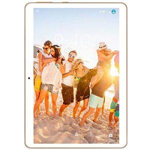 4G LTE Tablette Tactile 10 Pouces Android 9.0 Pie YOTOPT, 64Go, 4Go de RAM Tablette Dual SIM GPS, WiFi, Bluetooth, Type-c (Blanc)
