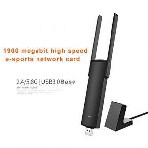 Abracing 1900M Adaptateur USB sans Fil Haute énergie Double Bande Wi-FI Vitesse Externe Adaptateur réseau Cartes