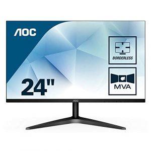 AOC 24B1H écran Plat de PC 59,9 cm (23.6″) Full HD LED Mat Noir – Écrans Plats de PC (59,9 cm (23.6″), 1920 x 1080 Pixels, Full HD, LED, 5 ms, Noir)