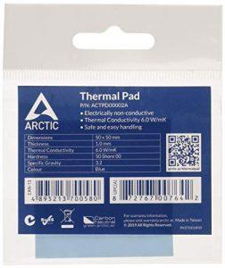ARCTIC Thermal Pad (50 x 50 x 1.0 mm) – Compresse thermique à base de silicone avec 6,0 W/mK de conductivité thermique et une dureté exceptionnellement faible