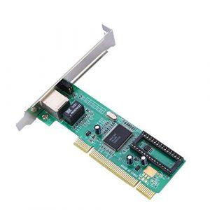 Bewinner Adaptateur PCI Express, Carte Réseau sans Fil PCI Realtek 8169 à Un Port PCI 10/100 / 1000Mbps Ethernet Gigabit pour Ordinateurs De Bureau Windows 7/8/10 / Linux