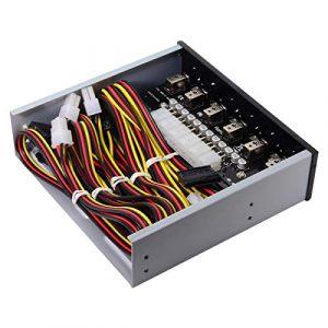 Cablecc 6 Système de contrôle Intelligent pour Disque Dur SSD avec Baie de CD-ROM 5,25
