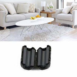 CamKpell Filtre de câble de Noyau de Noyau de ferrite de 5mm d'EMI RFI de réduction de suppresseur de Bruit – Noir